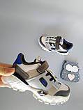 Детские кроссовки серые с белым унисекс, фото 3
