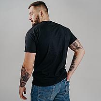 Классическая черная мужская футболка «Fruit of the Loom», фото 3