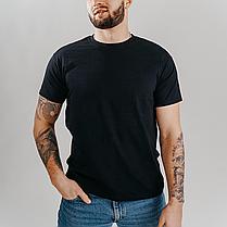 Классическая черная мужская футболка «Fruit of the Loom», фото 2