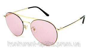 Круглые женские солнцезащитные безоправные очки
