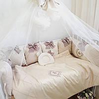 Бортики в кроватку,:  балдахин, простынка, одеяло,  подушка, пододеяльник