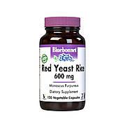 Красный Дрожжевой Рис 600мг, Bluebonnet Nutrition, 120 вегетарианских капсул