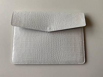 """Кожаный чехол-клатч CaZe для ноутбука 13.3"""" Белый"""