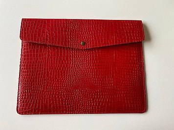 """Кожаный чехол-клатч CaZe для ноутбука 14"""" Красный"""