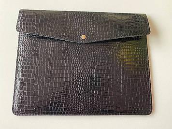 """Кожаный чехол-клатч CaZe для ноутбука 14"""" Черный"""