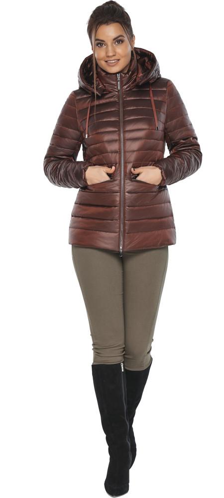Куртка комфортна каштанова жіноча модель 63045