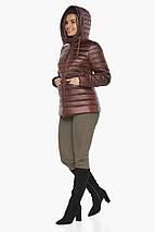 Куртка комфортна каштанова жіноча модель 63045, фото 3