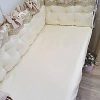 Бортики в кроватку+ простынка