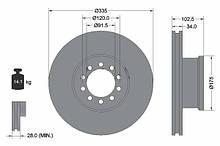 Гальмівний диск передній Лів/Прав MERCEDES ATEGO Winnard MNE1075
