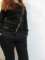 """Женские зимние брюки """"ADIDAS"""" (6127-1) черные код 743а"""