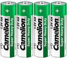 Батарейки Camelion R6P-BP4G GREEN 1×4 ШТ AA
