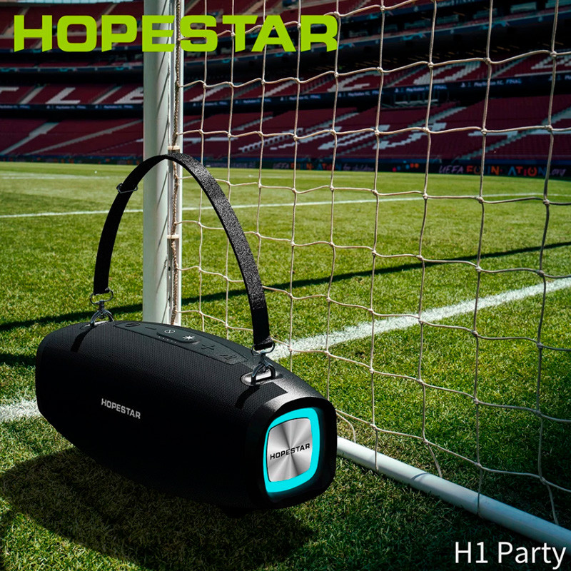 Портативна бездротова Bluetooth колонка Hopestar Original H1 PARTY SUPPER BASS Black чорна Speaker