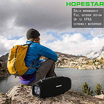 Портативна бездротова Bluetooth колонка Hopestar Original H1 PARTY SUPPER BASS Black чорна Speaker, фото 3
