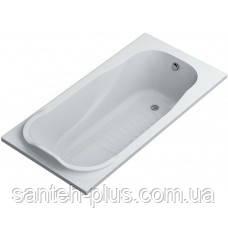 Ванна акриловая прямоугольная Мира 140х70, с ножками