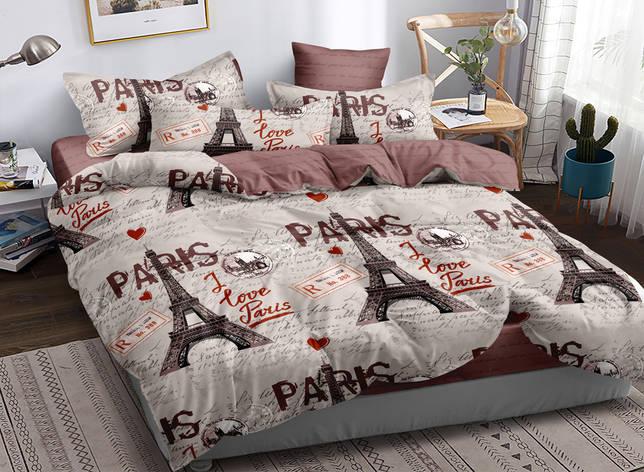 Полуторный комплект постельного белья 150*220 сатин (16691) TM КРИСПОЛ Украина, фото 2