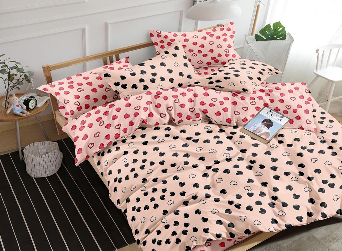 Двуспальный комплект постельного белья 180*220 сатин (16703) TM КРИСПОЛ Украина