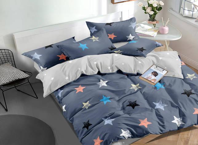 Двуспальный комплект постельного белья евро 200*220 сатин (16708) TM КРИСПОЛ Украина, фото 2