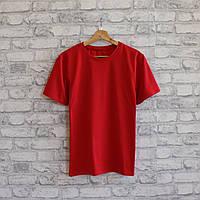 Футболка мужская из турецкой ткани высокого качества. Красный цвет. №01.