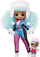 Лялька ЛОЛ Сюрприз Крижана леді L. O. L. Surprise! O. M. G. Winter Chill ICY Gurl Fashion Doll & Brrr B. B. Doll, фото 1