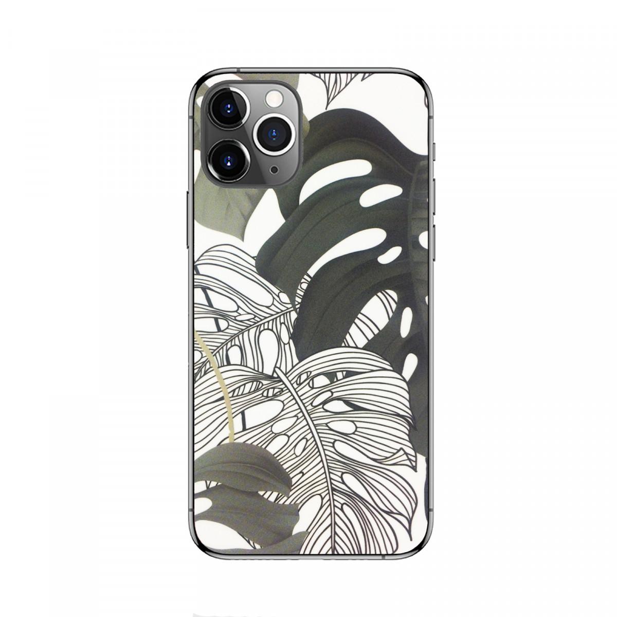 Защитная пленка на заднюю панель телефона - Листья