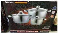 Набор Кухонной Посуды Houseberg Набор Кастрюль 6 Предметов 10006HB