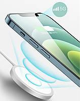 Беспроводная зарядка для iPhone 12 MagSafe 15W кабель Type-C в комплекте