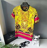 Футболка красочная весна лето версаче versace модная стильная бренд S M L XL XXL