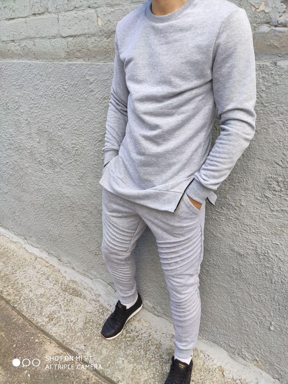 Спортивний костюм Чоловічий спортивний костюм сірий/ чоловічий спортивний костюм сірий класичний