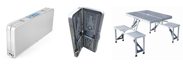 Стол Picnic Table, Складной алюминиевый стол для пикника со стульями
