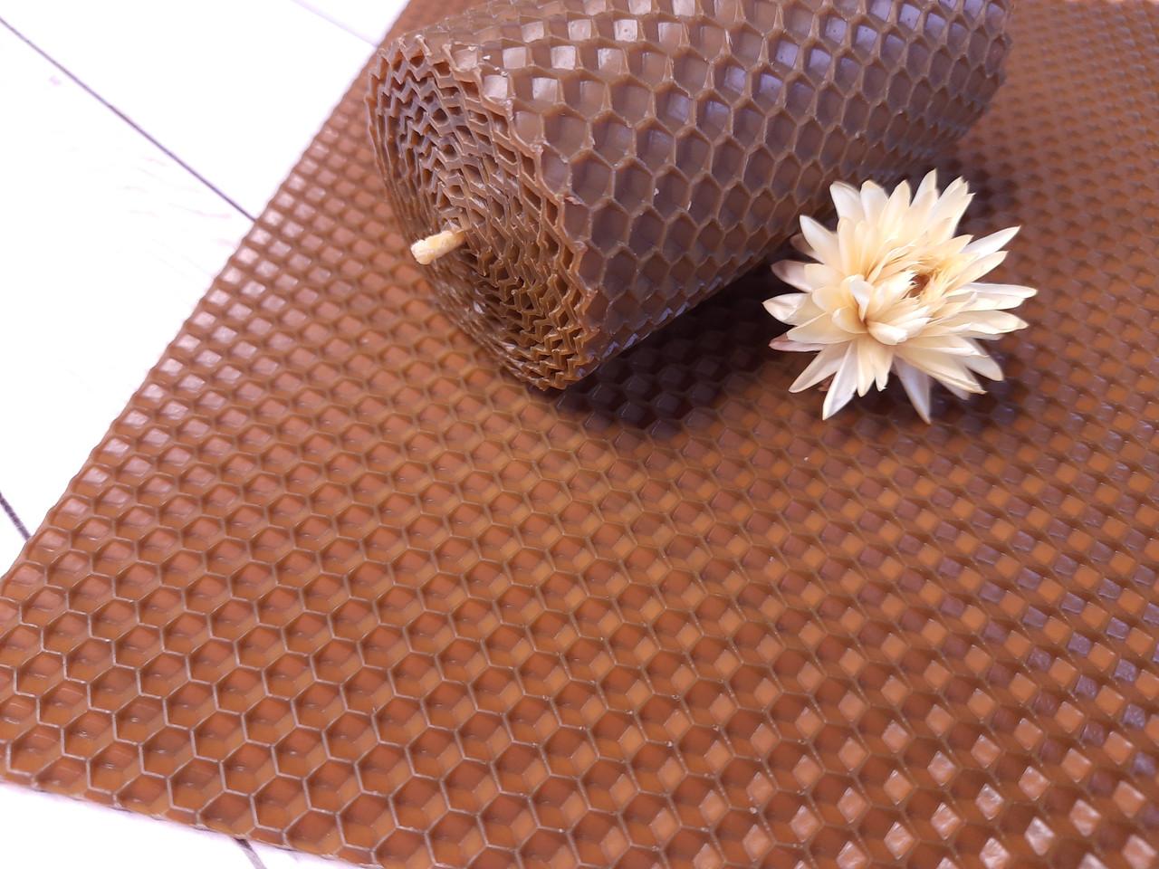 Кольорова вощина для виготовлення свічок, лист 20х26см, коричневий