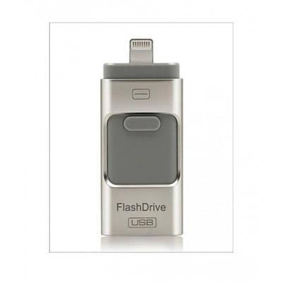 Флешка для Iphone 3в1 16GB флеш-накопитель Usb FlashDrive для Android/iPad/iPhone 5/5S/5C/6/7/8/X черный