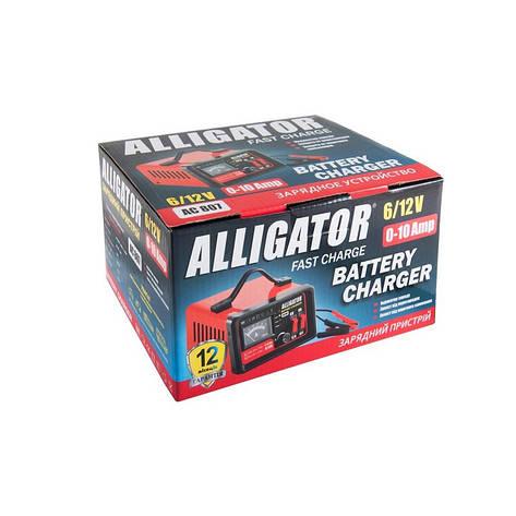 Зарядний пристрій Alligator AGM 6/12 В 10А 15-110А АС807, фото 2