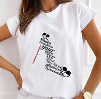 """Женская футболка с принтом """"Женская туфля из надписей"""" Push IT"""