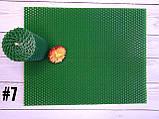 Кольорова вощина для виготовлення свічок, зелений, лист 20х26см, фото 2