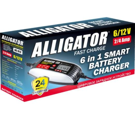 Зарядний пристрій інтелектуальне для АКБ 6в1 Alligator 6/12В 4А 120Ач AC812, фото 2