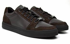 Кроссовки мужские кеды повседневные кожаные обувь больших размеров Rosso Avangard Nice Brown Floto TPR BS