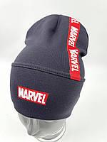 ОПТ, Дитяча трикотажна шапочка ковпак для хлопчика «Marvel», фото 1