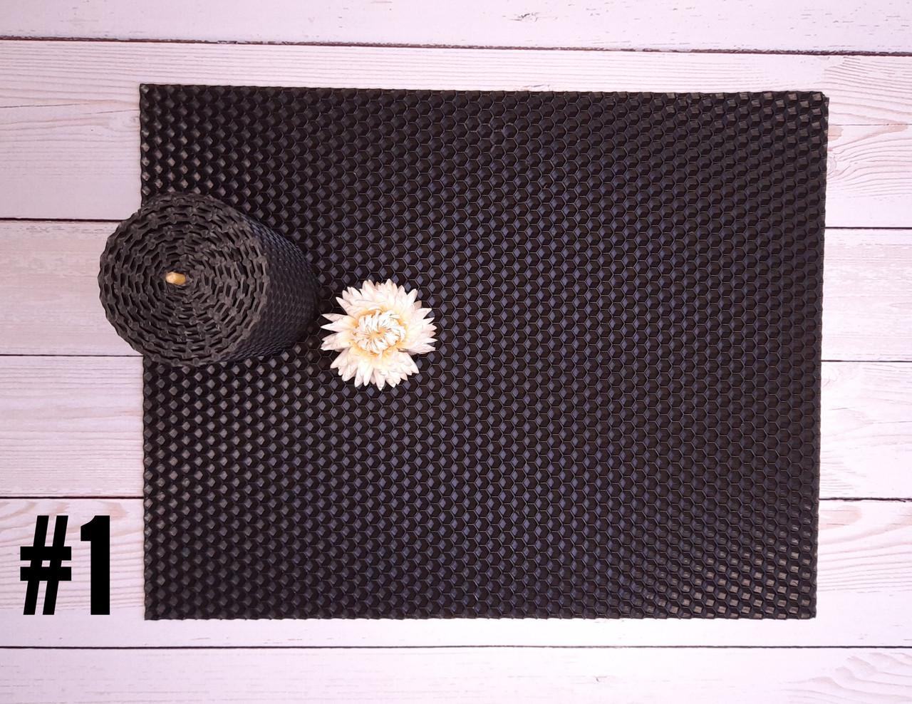 Цветная вощина для изготовления свечей, лист 26х41 см, черный