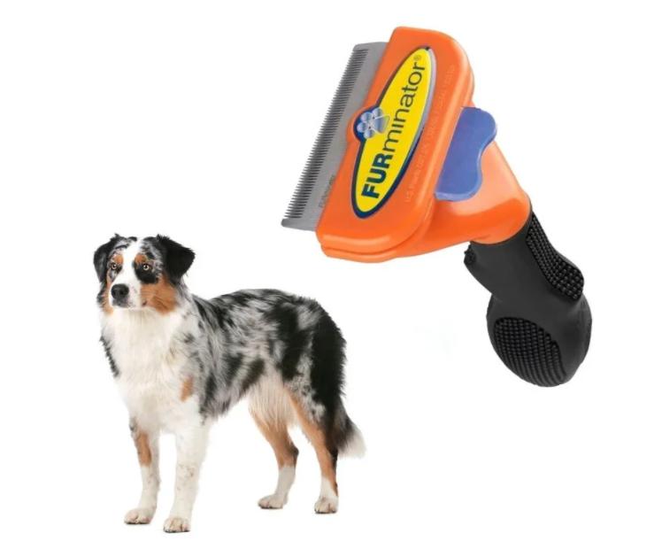 Фурминатор з кнопкою 6.5 див. для короткошерстих собак і кішок середнього розміру Fobnimarut Short Hair DX