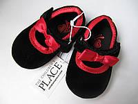 Пинетки  туфельки для девочки праздничные нарядные новогодние размер 3-6 мес, фото 1