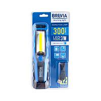 Фонарь для СТО автомобильный светодиодный для кемпинга Brevia 3W COB+1W LED.Ручной светодиодный фонарик