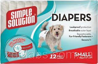 Памперси для собак дрібних порід з візерунком 12 шт