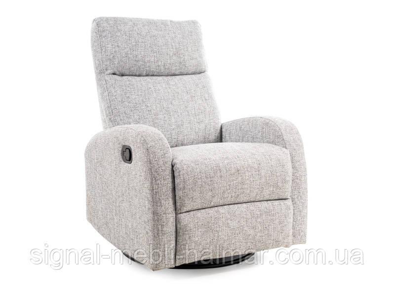 Крісло розкладне OLIMP сірий (з функцією гойдания)(Signal)