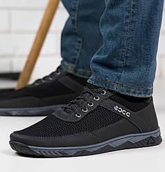 Кросівки чоловічі сітка чорні 40р