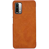 Захисний чохол-книжка Nillkin для Xiaomi Redmi 9T / Redmi Note 9 4G (Qin leather case) Brown Коричневий, фото 2