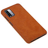 Захисний чохол-книжка Nillkin для Xiaomi Redmi 9T / Redmi Note 9 4G (Qin leather case) Brown Коричневий, фото 4