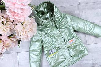 Детская куртка для девочки весенняя р. 86-110