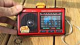 Портативный радиоприемник RX 7722 с фонариком, USB MP3 плеер, фото 2