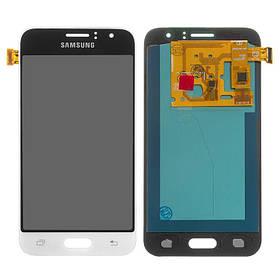 Дисплей (екран) для Samsung J120 Galaxy J1 (2016) з сенсором (тачскріном) білий OLED