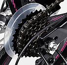 Детский велосипед спортивный для девочки 7-12 лет двухколесный CORSO T-REX 20'' Черно-розовый, фото 7